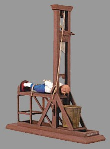 I support the guillotine as the method of execution.
